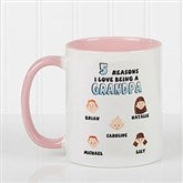 His Reasons Why Personalized Coffee Mug- 11oz- Pink - 8603-P