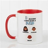 His Reasons Why Personalized Coffee Mug- 11oz- Red - 8603-R