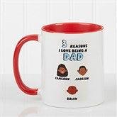 His Reasons Why Personalized Coffee Mug- 11oz- Red - 8603-R