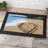 Our Paradise Island Personalized Doormat- 20x35 - 8608-M