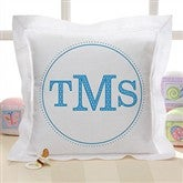Monogram Linen Keepsake Pillow - 8634-M