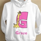 Girl Alphabet Animals© Toddler Hooded Sweatshirt - 8635-THS