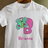 Girl Alphabet Animals Youth T-Shirt - 8635-YT
