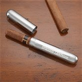 Engraved Silver Cigar Case - 8655