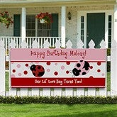 Ladybug Personalized Birthday Banner - 8662