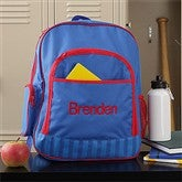 Back To School Embroidered Backpack - 8676-B