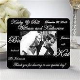 Mr. and Mrs.© Personalized Mini Favor Frame - 8690