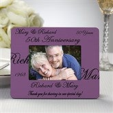 Anniversary Wishes Personalized Mini Favor Frame - 8693