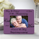 Anniversary Wishes© Personalized Mini Favor Frame - 8693