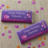 Birthday Girl Custom Candy Bar Wrappers - 8709