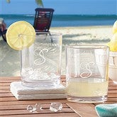 Set of 4 Unbreakable Acrylic 14 oz.  Short Glasses - 8727-S