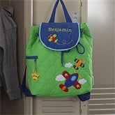Airplane Embroidered Backpack - 8732