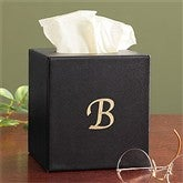Executive Office© Personalized Leather Tissue Box Holder - 8741