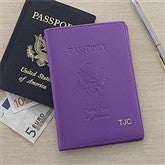 World Traveler Passport Cover - Purple - 8744-P