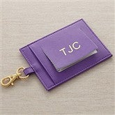 World Traveler Leather Luggage Tags-Purple - 8745-P