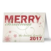 Merry Christmas Personalized Holiday Cards - 8765