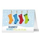 Family Stockings Christmas Cards - 8779
