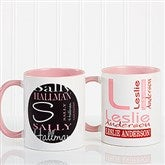 Personally Yours Personalized Coffee Mug 11oz.- Pink - 8796-P