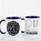 Personally Yours Personalized Coffee Mug 11oz.- Blue - 8796-BL