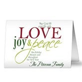 Words of Christmas Cards & Envelopes - 8804