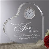 A Time For Love Engraved Heart Clock - 8856