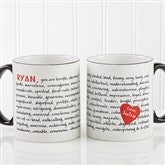 Reasons To Love You Personalized Mug 11 oz.- Black - 8863-B