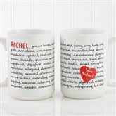 Reasons To Love You Personalized Mug 15 oz.- White - 8863-L