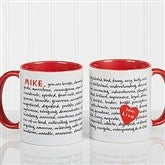 Reasons To Love You Personalized Mug 11 oz.- Red - 8863-R
