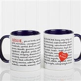 Reasons To Love You Personalized Mug 11 oz.- Blue - 8863-BL