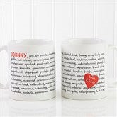 Reasons To Love You Personalized Mug- 11 oz. - 8863-S