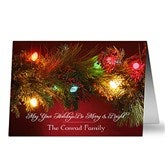 Merry & Bright Personalized Christmas Cards - 8887