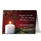 Light Of Christmas Personalized Religious Cards - 8937