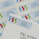 Family Stockings Return Address Labels - 8945