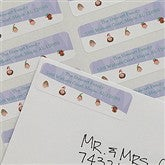 Sledding Family Characters Return Address Labels - 8994