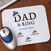 Dad is King Personalized Mouse Pad - 9008M
