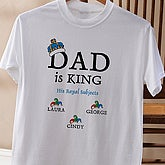 Dad is King Personalized Adult T-Shirt - 9008CT