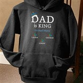 Dad is King Personalized Black Sweatshirt - 9008BS