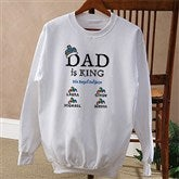 Dad is King Adult Sweatshirt - 9008S