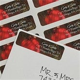 Red Ornament Return Address Labels - 9060
