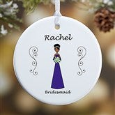 1-Sided Wedding Party Characters Personalized Ornament- Small - 9083-1