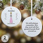 2-Sided Wedding Party Characters Personalized Ornament- Small - 9083-2