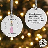 2-Sided Wedding Party Characters Personalized Ornament - 9083-2