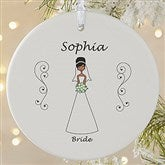 1-Sided Wedding Party Characters Personalized Ornament-Large - 9083-1L