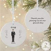 2-Sided Wedding Party Characters Personalized Ornament- Large - 9083-2L