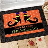 Stop In For A Scare Personalized Recycled Rubber Back Doormat - 9095