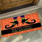 Stop In For A Scare Personalized Oversized Doormat- 24x48 - 9095-O
