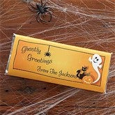 Ghostly Greetings Custom Candy Bar Wrappers - 9138