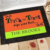 Trick or Treat Wipe Your Feet Personalized Doormat - 9152