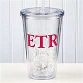 On The Go Personalized Acrylic Tumbler with Initials - 9153-I