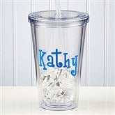 On The Go Personalized Acrylic Tumbler with Name - 9153-N